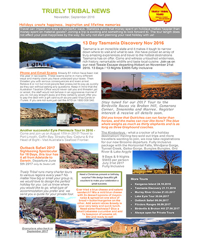 Outback Tours and Charter News